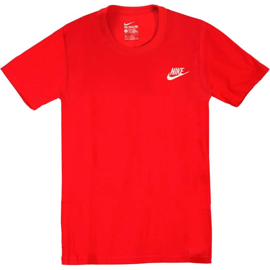 nike club swoosh mens red short sleeve tshirt exclusive. Black Bedroom Furniture Sets. Home Design Ideas