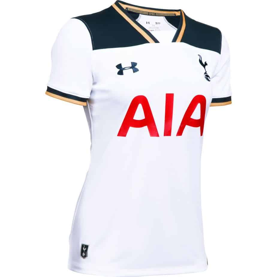 Tottenham hotspur under armour womens home football shirt for Under armour tottenham polo shirt