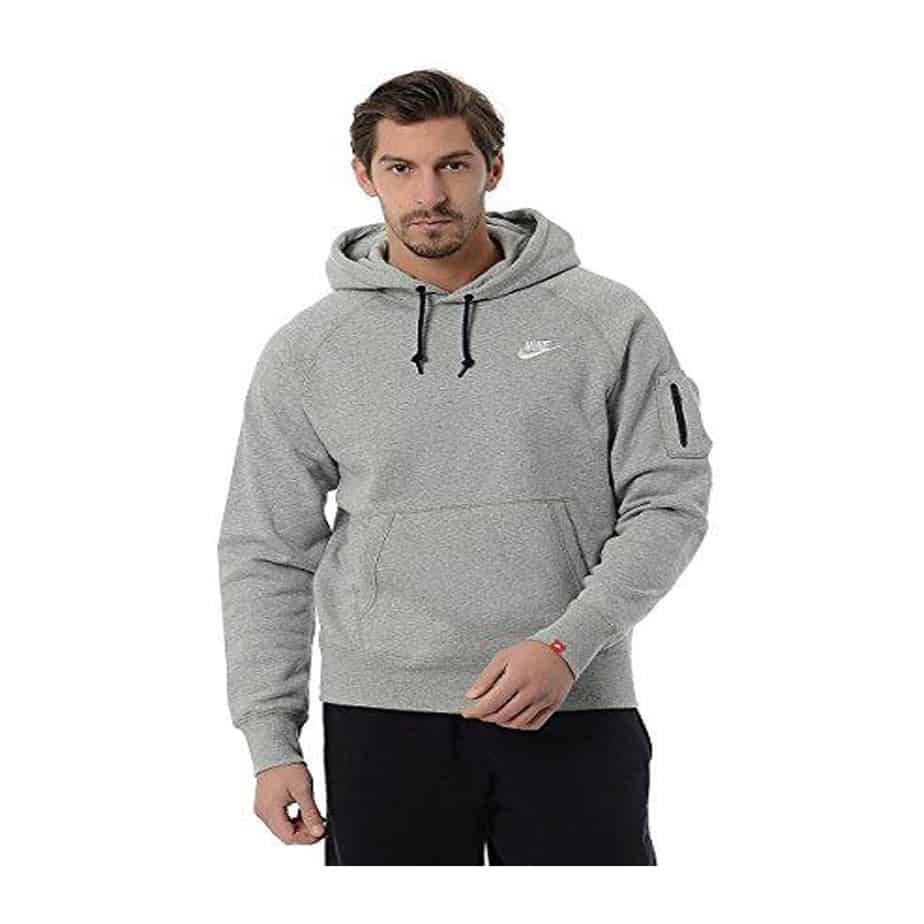 nike grey mens sweatshirt hoodie aw77 fleece overhead. Black Bedroom Furniture Sets. Home Design Ideas