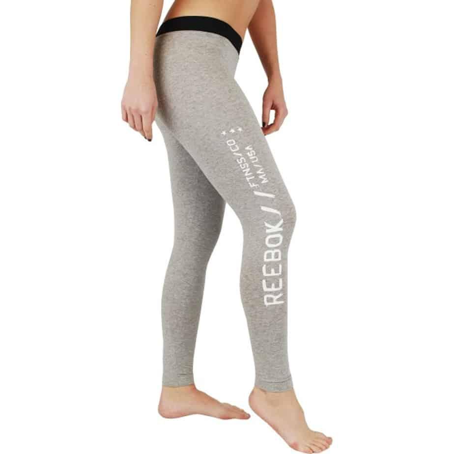 Reebok Crossfit Womens Grey Slim Fit Gym Workout Leggings Exclusive Sports